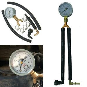 1x Car Fuel Oil Pressure Tester Gauge Tube Adapter Clamp Kit Gasoline Test Tool