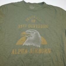 LUCKY BRAND PROPERTY OF 31st DIVISION ALPHA AIRBORN EAGLE MILITARY TEE T SHIRT L