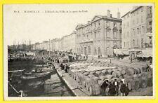 cpa France 13 - MARSEILLE Ecrite en 1905 MAIRIE QUAI du PORT Tonneaux Barils