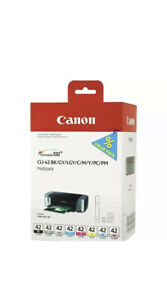 GENUINE Canon CLI-42 *8 pack* BK/C/M/Y/PM/PC/GY/LGY Ink Cartridges - NEW
