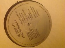 "Is That It? ‎–State Of Mind E.P 12"" Old Skool Hardcore Vinyl 1991 D-Zone Records"