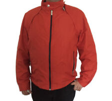 Z ZEGNA SPORT Men's Orange Hooded Microtene Windbreaker Jacket Sz XXL US Sz 44