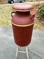 Vintage 10 Gallon Steel Milk Can