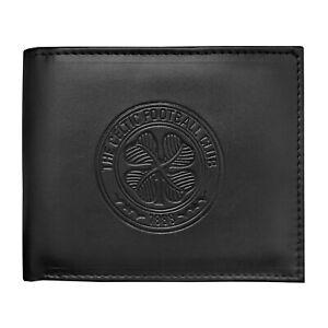 Celtic FC Official Football Gift Embossed Crest Money Wallet Black