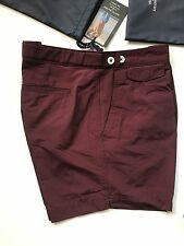 30 WAIST WINE DAVID GANDY FOR AUTOGRAPH SHORTS MARKS AND SPENCER