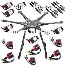 S550 F550 Carbon Fiber Hexacopter Frame Kit w/ 6 Pcs 2212 920kv Motor 30A ESC