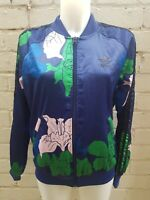 Woman's Adidas Originals Track Top Size 12 Ladies Jacket Rihanna Blue Floral