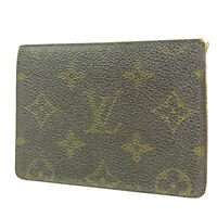 Sale! Auth LOUIS VUITTON M60533 Monogram Porte 2 Cartes Vertical Card Case 3104b