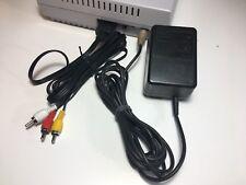 SNES ORIGINAL Super Nintendo System Hook-ups AC ADAPTER + AV CABLE GUARANTEE