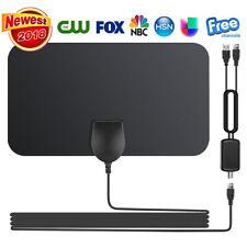 Flat Indoor Digital TV Antenna 50 Mile Range 1080P Signal Booster Amplifier HD