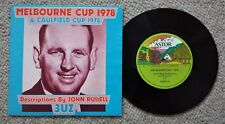 MELBOURNE CUP & CAULFIELD CUP 1978 - 3UZ JOHN RUSSELL - OZ PICTURE COVER 45