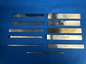 Set of 11 Straight/Curved Lambotte Osteotomes, Neuro Spine, 30 Day Warranty