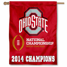 Ohio State Buckeyes 2014 National Champions House Banner Flag