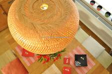 Handmade Rattan Pendant Ceiling Lampshade, Pumpkin Shape, Natural Brown, L013-4