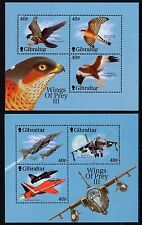 Gibraltar 2001 2x Miniature Sheets Wings of Prey SG MS988 Unmounted Mint