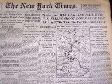 1944 JANUARY 6 NEW YORK TIMES - RUSSIANS WIN UKRAINE RAIL HUB - NT 760