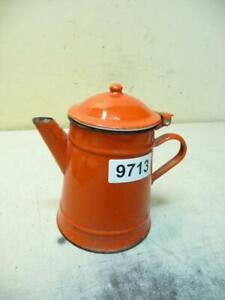 9713. Schöne alte Emaille Email Kanne Kaffeekanne Old enamel can