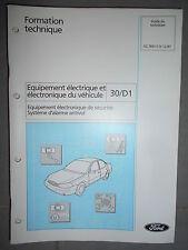 Ford: documentation workshop burglar alarm system - 1998 cg7691
