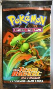 Pokemon EX TEAM ROCKET RETURNS Empty Booster Pack (no cards)