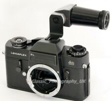 Leicaflex SL 35mm SLR Made by LEITZ Wetzlar in 1969 + Angle Finder Made in Japan