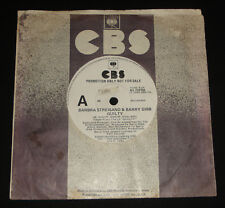 BARBRA STREISAND BARRY GIBB WHITE LABEL PROMO 45 -  GUILTY - BEE GEES POP