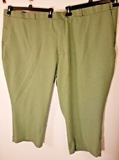 Habands Fit Forever Mens Dress Pants 58XS Green Trouser Stretch waistband