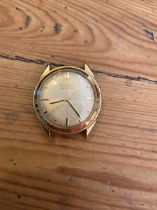Vintage Mens Bulova Accutron Gold Plated 214 Spares Or Repair