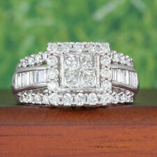 2.50 Ct Diamond Princess Cut 14K White Gold Finish Women's Engagement Band Ring