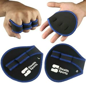 WEIGHT LIFTING PALM GRIP PADS CALLUS SUPPORT NEOPRENE GYM GLOVES ALTERNATIVE