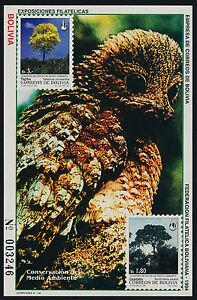 Bolivia 928a MNH Trees, Birds