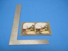 Antique Stereoview Card Travelers Series Montgomery Ward William Tell Altdorf