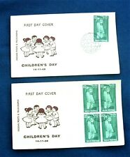 Two India FDC 'Children's Day' Stamps Series 1959 - Bombay Postmarks