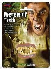 Werewolf fake TEETH Flexible theatrical prosthetic fancy dress costume makeup