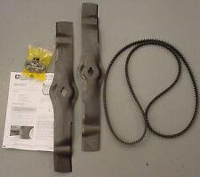 "JOHN DEERE 42"" Freedom Deck Blade and Belt Kit AM130172 M150717 GT LX LT SST"