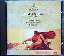 Rudolf SERKIN Schubert Bach Beethoven Brahms Medelssohn CD Appassionata Sonata