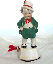 ANTIQUE~ IRISH BOY TAPE MEASURE~,FIGURAL,porcelain-MADE in GERMANY