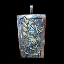 Hopi Sterling Silver Overlay Pendant by Ronald Wadsworth
