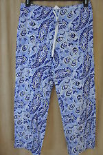 Ralph Lauren Essentials Intimates Sleepwear Pants Sz L Blue Multi Sleep Pant