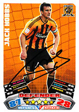 Hull City F.C Jack Hobbs Hand Signed 11/12 Championship Match Attax.