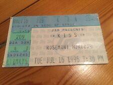 Kiss 16th July 1996 Rosemont Horizon  Ticket Reunion Tour Stub