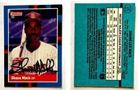 Shane Mack Signed 1988 Donruss #411 Card San Diego Padres Auto Autograph