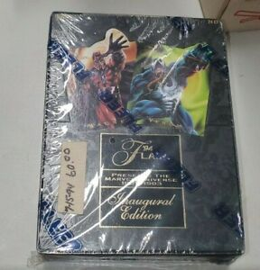 1994 MARVEL FLAIR ANNUAL INAUGURAL EDITION FACTORY SEALED BOX 24 SEALED PACKS