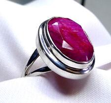 Rubin Ring 925 Silber Gr. 17,2 (54) riesiger, ovaler Edelstein SONDERPREIS NEU