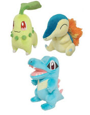 NEW Set of 3 Sanei Pokemon Plush PP40 Chikorita/PP41 Cyndaquil/PP42 Totodile