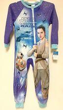 Disney Star Wars BB8 Rey Zip Up Blanket Sleeper Pajamas PJs 6 6x