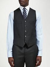 Hackett London Sharkskin 110's SHARSKIN Super Wool Waistcoat Charcoal 42r