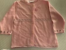 3pommes Toddler Girls sz 12m long sleeve pink button up cardigan NWT