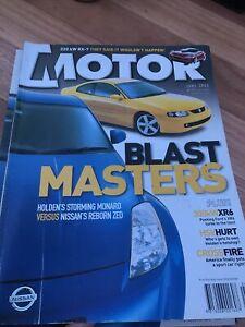 MOTOR Car magazine JUNE 2003 XR6 MONARO RX7 M6 427C F TYPE ST170 GTS ML55 X5 S