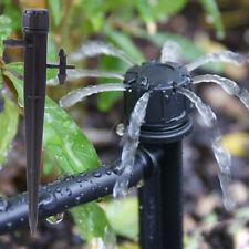 100ps Adjustable Water Flow Irrigation Dripper on Stake Sprinkler Emitter Garden