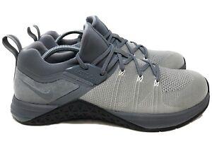 Nike Metcon Flyknit 3 Training Shoes  Size 10 Grey / Black AQ8022 002